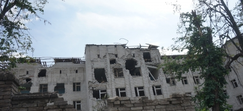 a bombed building