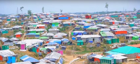 view of the refugee camp