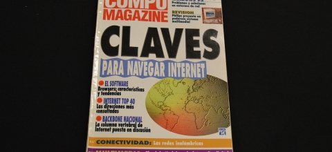 "Cover of Compu Magazine with the headline ""Para Navegar Internet"""