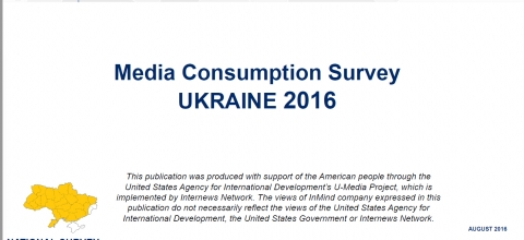 Cover: Media Consumption Survey - Ukraine 2016